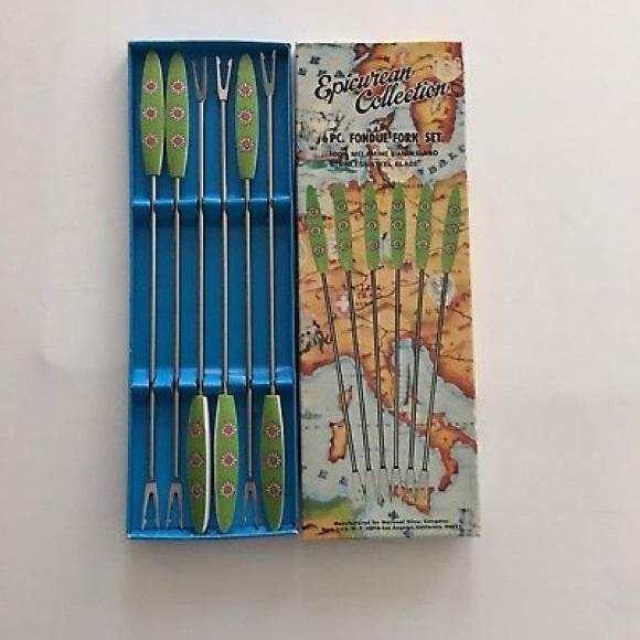 Epicurean Collection Fondue Forks Set of 6 Vibtage